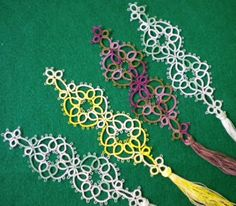 Tat-a-Renda: Bookmarks from Mary Konior's pattern Read, Mark, Learn.