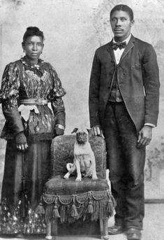6.jpg 340×497 pixels ..It is very unusual to see early photos with animals included but esp. with black americans.  Y