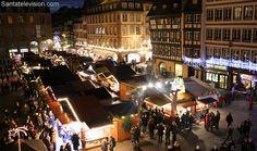 Christmas market in Strasbourg in France