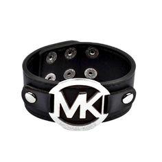 $8.99 Newest Michael Kors Leather Logo Black Bracelets have Arrived!