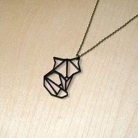 Origami fox necklace https://folksy.com/shops/quietlycreative