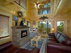Stargazer • 1 Bedroom 2 Bathroom cabin that sleeps 6. Beautiful mountain views with romantic decor perfect for a you and a loved one! Located just outside of Pigeon Forge.