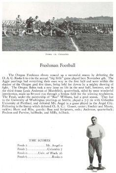 1922 UO freshman football.  From the 1923 Oregana (University of Oregon yearbook).  www.CampusAttic.com