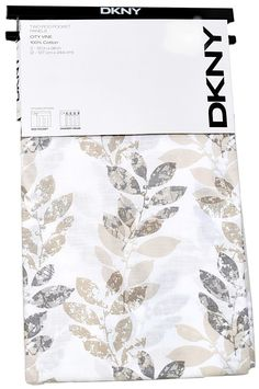 DKNY City Vine Window Curtain Panels Set of 2 Drapes PAIR Branches BEIGE GREY 96 #DKNY #Contemporary