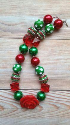 Grueso collar de Navidad Navidad bebé collar de Navidad