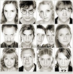 Emma Watson, Daniel Radcliffe, Evanna Lynch, Rupert Grint, Gary Oldman, Natalia Tena, James and Oliver Phelps, Bonnie Wright, Julie Andrews, Mark Williams, Clémence Poésy, Domhnall Gleeson