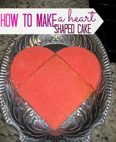 How to make a heart shaped cake!