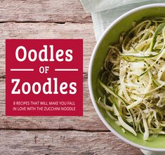 Delicious Zoodle Recipe Roundup!!