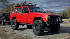 Image result for red jeep xj