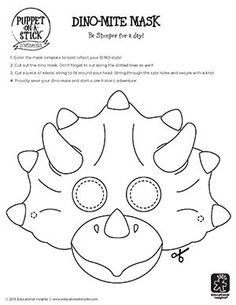 carterie, pergamano et tableaux - Page 97 Dino-Mask-Template Dinosaurs Preschool, Dinosaur Activities, Printable Activities For Kids, Preschool Crafts, Dinosaur Crafts Kids, Spanish Activities, Toddler Activities, Dino Craft, Imprimibles Toy Story Gratis