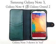 Hey, I found this really awesome Etsy listing at https://www.etsy.com/listing/186490267/leather-samsung-galaxy-note-4-wallet