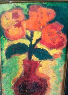 Flores. Quadro a óleo.