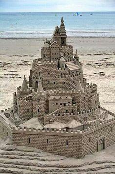 Castelo de areia.