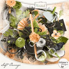 Soft Orange de Célinoa's Designs [soft_cd] - €4.00 : My Scrap Art Digital, Passion for Digital Scrapbooking