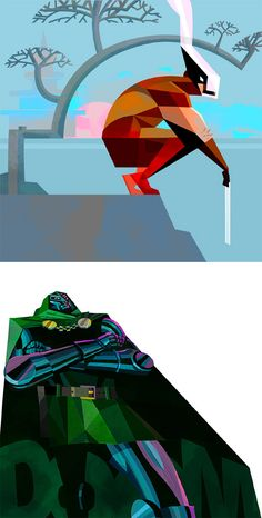 Supers: Illustration Series by Robert M Ball | Inspiration Grid | Design Inspiration