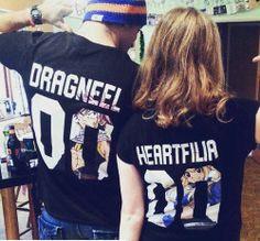 love couple cute anime manga t-shirt Natsu Fairy Tail lucy ft nalu Natsu X Lucy