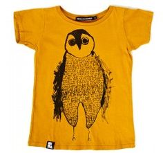 Oh my god - LOVE this silly owl!!  Mini & Maximus Falling Ice Tee Mustard