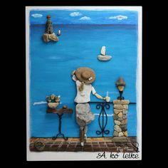 Tengerparti reggel. #akőlelke #papptimi #kavicsképek #pebbleart #stoneartist #pebbleartist #stoneart #kavicsművészet #pebblepictures #rockart