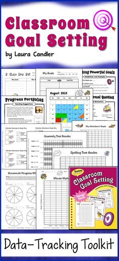 Classroom Goal Setting - Your data-tracking toolkit! Teach your students why they need goals, how to write them, and how to track their data. Perfect for 3rd, 4th, 5th, and 6th grade! $ #LauraCandler
