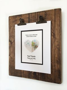 Distance Means So Little When Someone Means So Much Gift For Christmas Gifts For Friends, Unique Christmas Gifts, Bff Gifts, Best Friend Gifts, Long Distance Relationship Gifts, Distance Relationships, Going Away Presents, Wedding Vow Art, Unique Maps