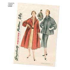 Jacket Pattern, Top Pattern, Sewing Tutorials, Sewing Crafts, Coat Patterns, Vintage Coat, Simplicity Patterns, Collar Styles, Top Stitching