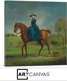 The Countess of Coningsby in the Costume of the Charlton Hunt, by George Stubbs Framed Art Print Magnolia Box Size: Extra Large Framed Art Prints, Painting Prints, The Duchess Of Devonshire, Riding Habit, Canvas Art, Canvas Prints, Framed Canvas, Equine Art, Horse Art