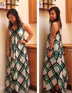 The Scarves DIY Maxi Dress shows you how to sew a long dress pattern that can be worn casually and paired with a sweater for winter. You can use scarves of the same design or combine three different prints for a bohemian look. This free sewing pattern takes an afternoon to create and requires several yards of fabric.