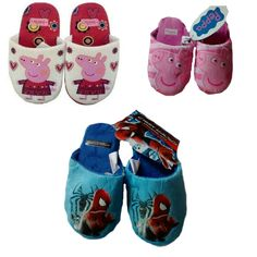 Love Love Love these new items now in stock!  http://supercoolgifts.myshopify.com/products/peppa-pig-spiderman-slippers-pink-white-blue-7-8-9-10-11-12-13?utm_campaign=social_autopilot&utm_source=pin&utm_medium=pin #lovefashion #fashionforless #uksmallbiz #fashion