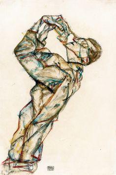 display_image.php (846×1280) Egon Schiele paintings  plastic arts, visual arts, art