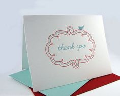 Thank you card by Drippy Ink