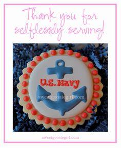 Sweet Goosie Girl: U.S. Navy Cookies