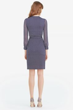 Sigourney Two Chiffon and Silk Combo Wrap Dress | Landing Pages by DVF