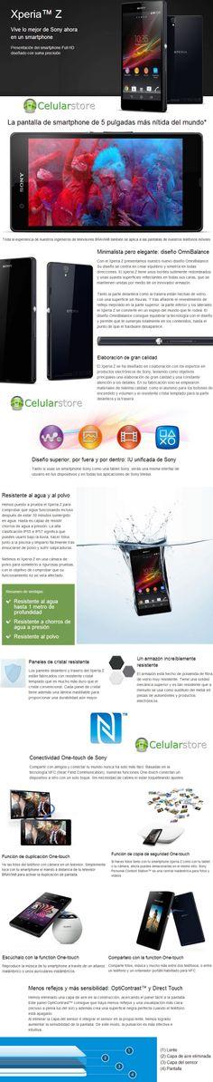 Comprar Sony Xperia Z Blanco resistente al agua y polvo en argentina Sony Xperia, Smartphone, Shopping, Buenos Aires, Argentina, Water, Budget, White People