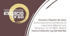 Espacio Tirso. Tarjetas personales. 2009.