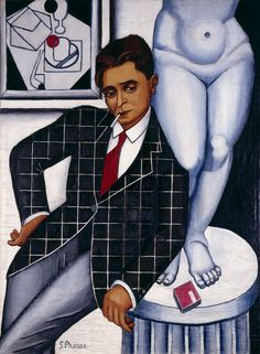 Suzanne Phocas (French, 1897 - 1984) Portrait of Metzinger, 1926 Oil on canvas, 115 x 80 cm