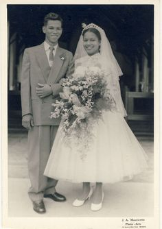 Young 1950's newlyweds, Trinidad