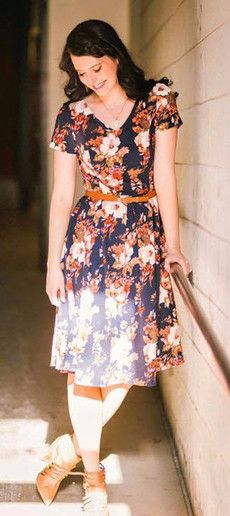 Coming this Spring, the cute modest  floral Amy dress!