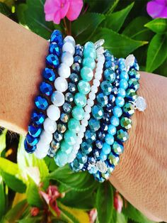 Create your own beautiful stack of Lizas bracelets!