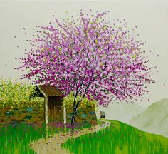 Vietnamese landscape full of life and colors by the young  artist Phan Thu Trang l #painting