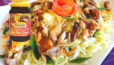 Surinaams eten – Garlic Bami Grilled Honey Chicken (knoflook bami met gegrilde honing kip)