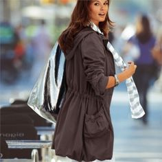 Could use a parka. Rain Jacket, Windbreaker, Chic, My Style, Jeans, Skirts, Clothes, Dresses, Fashion
