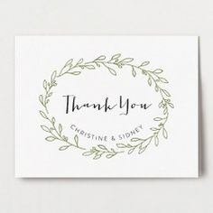 Olive Branch Thank You Card