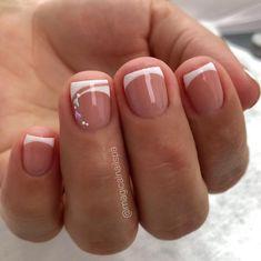 French Nails, Cute Acrylic Nails, Cute Nails, Mani Pedi, Pedicure, Precious Nails, Magic Nails, French Nail Designs, Stylish Nails