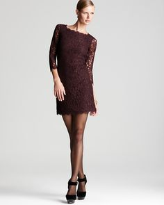 Pretty color and I love the lace <3  From Bloomingdales~