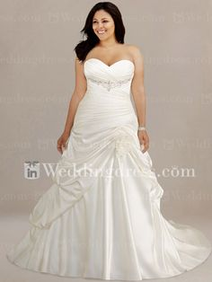 Modest Tiered Plus Size Wedding Dress PS144... I love this dress!