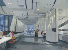 Almost Genius: Futuristic Food Court by Blade Runner's Set Designer, Syd Mead