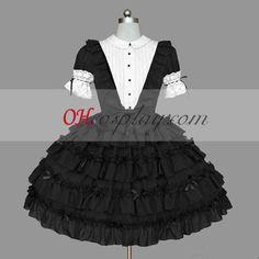 Black Gothic Lolita Dress For Sale