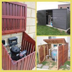 Pool Equipment Enclosure Ideas how to build pool pump cover Pool Enclosure Ideas 5
