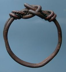 Anglo Saxon wire wrap finger rings | wire finger ring, 9-11th C.