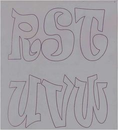 Letras 10 Doodle Alphabet, Graffiti Designs, Calligraphy Alphabet, Alphabet Fonts, Letter Stencils, Alphabet And Numbers, Block Lettering, String Art, Coloring Books